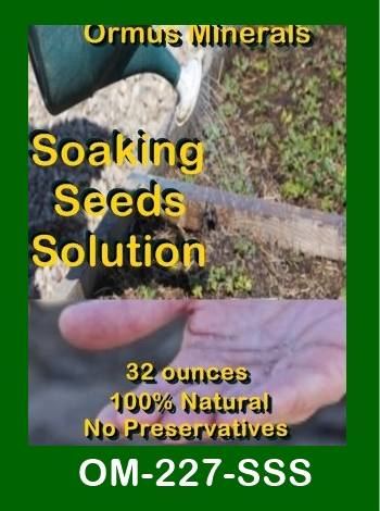 Ormus Minerals Soaking Seeds Solution store