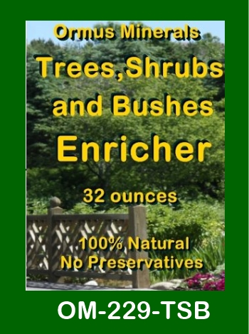 Ormus Minerals Trees Shrubs and Bushes Enricher store