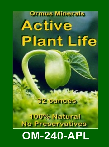 Ormus Minerals Active Plant Life store