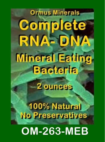 Ormus Minerals Complete RNA - DNA Mineral Eating Bacteria store