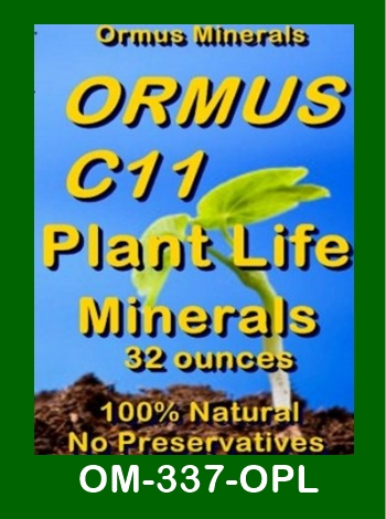 Ormus Minerals Ormus c=11 Plant Life Minerals store