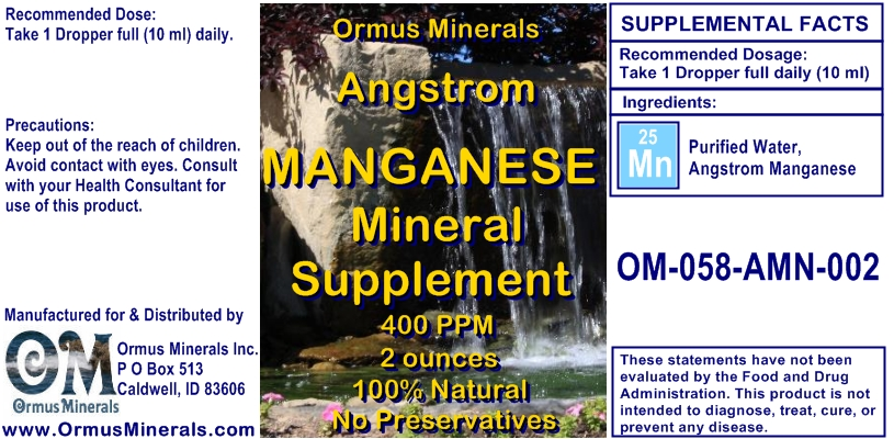 Angstrom Manganese Mineral Supplement 2 ounces