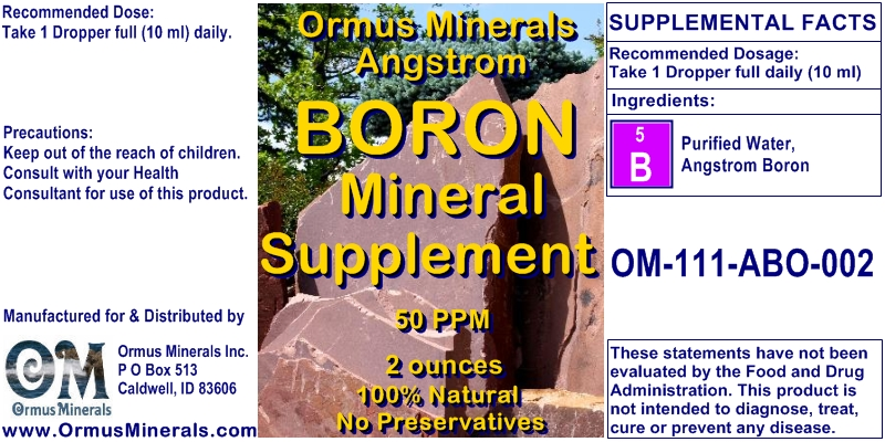 Angstrom Boron Mineral Supplement 2 ounces